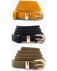Boohoo - Skinny 3pk Belt - Lyst