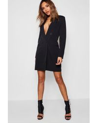 Boohoo - Double Breasted Blazer Dress - Lyst
