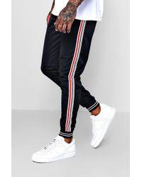 Boohoo - Side Stripe Cuffed Jersey Jogger - Lyst