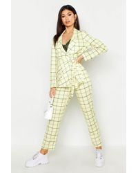 Boohoo - Checked Tapered Trouser - Lyst