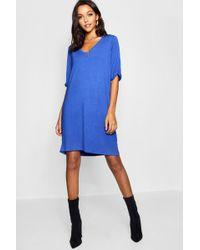Boohoo - Tall Turn Cuff Oversized T-shirt Dress - Lyst