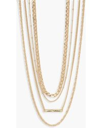 Boohoo - Simple Multi Layered Necklace Pack - Lyst