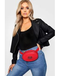 Boohoo - Plus O Ring Trim Quilted Bum Bag - Lyst