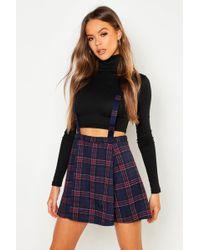 b5d621329 Forever 21 Tartan Plaid Flared Skirt in Red - Lyst