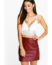 Boohoo   Tall Natalia Lace Caged Front Bralet   Lyst