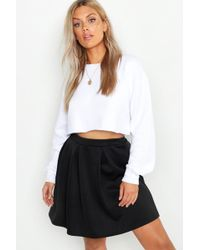 bf19fd2ef Forever 21 Box Pleated Tennis Skirt in Black - Lyst
