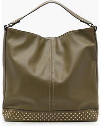 Boohoo | Rosie Studded Base Hobo Day Bag | Lyst