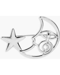 Boohoo - Sofia Moon And Star Brooch - Lyst