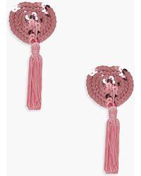 Boohoo - Sequin Tassel Nipple Covers - Lyst