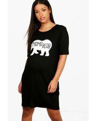 Boohoo - Maternity Mama Bear Nightie - Lyst