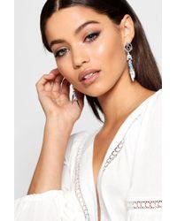 Boohoo - Horn & Dreamcatcher Earrings - Lyst