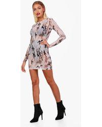 Boohoo - Mila Mesh Cami Bodycon Dress - Lyst