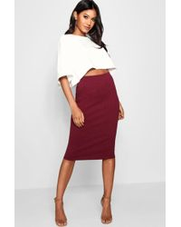 312230a6df Boohoo Woven Lace Top & Contrast Midi Skirt Co-ord in Pink - Lyst
