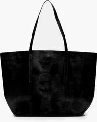 Boohoo - Large Faux Snake Shopper Day Bag - Lyst