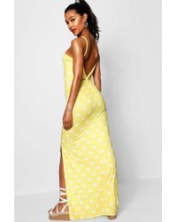 Boohoo - Knot Cross Back Jersey Maxi Dress - Lyst