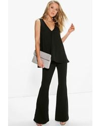 Boohoo | Ivy Swing Top & Flared Trousers Co-ord Set | Lyst