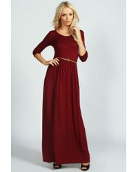 Boohoo - Scoop Neck Elasticated Waist Maxi Dress - Lyst