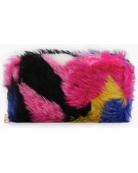 3a5f4f41de48 Boohoo - Amy Multi Colour Faux Fur Purse - Lyst