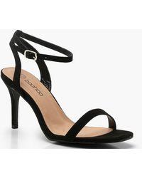 b0bb6279f2ff Lyst - Boohoo Extra Wide Fit Square Toe Block Heels in Black