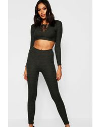 Boohoo - Tie Up Front Lounge Set - Lyst