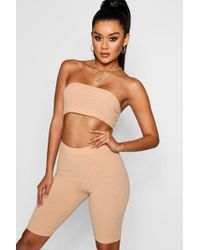 Boohoo - Bandeau And Cycling Short Co-ord - Lyst