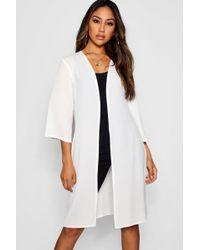 Boohoo - Flare Woven 3/4 Sleeve Kimono - Lyst