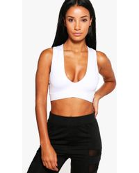 207d45a9893 Lyst - Boohoo Alliah All Over Embellished Bralet in White