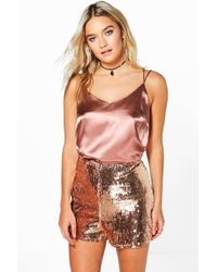 Boohoo - Boutique Ellie All Over Sequin Shorts - Lyst