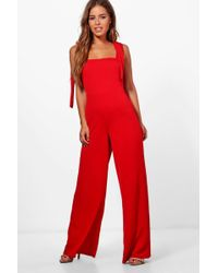 8a9014b0850 Lyst - Boohoo Strappy Cami Luxe Satin Wide Leg Jumpsuit in Metallic