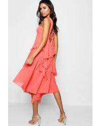 Boohoo - Boutique Dariela Asymmetric Tier Dress - Lyst
