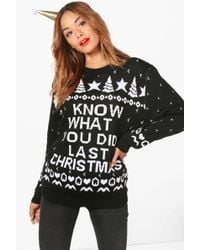 Boohoo - Georgia 'i Know What You Did' Christmas Jumper - Lyst
