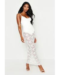 Boohoo - Strappy Lace Maxi Dress - Lyst