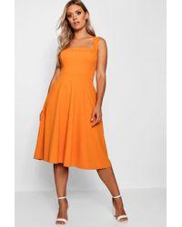 Boohoo - Plus Square Neck Midi Dress - Lyst