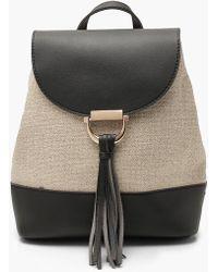 fcf98af1bc Lyst - Ecote Tassel Ring Backpack in Black