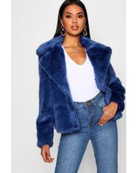 Boohoo - Luxe Faux Fur Coat - Lyst