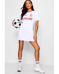 Boohoo - England World Cup Jersey T Shirt Dress - Lyst