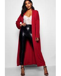 Boohoo - Flare Sleeve Jersey Maxi Kimono - Lyst