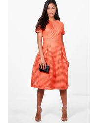 Boohoo - Boutique Frill Skirted Prom Midi Dress - Lyst