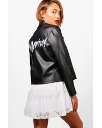 Boohoo - Just Married His & Hers Scuba Bikers - Lyst