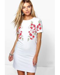 Boohoo | Camy Floral Printed Shift Dress | Lyst