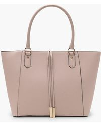 Boohoo - Structured Cross Hatch Tote Bag - Lyst