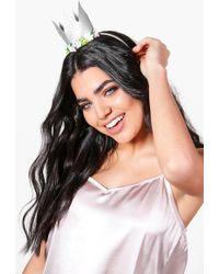 Boohoo - Bonnie Bridal Hen Party Crown Headband - Lyst