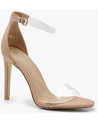 d5ce4c995f2 Boohoo Katie Clear Band Platform Two Part - Lyst