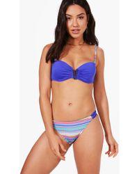 Boohoo | Venice Underwired Strappy Bandeau Bikini | Lyst