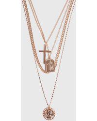 Boohoo 4-reihige Halskette mit Anhänger