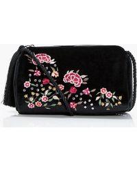 Boohoo | Laura Embroidery & Stud Cross Body Bag | Lyst