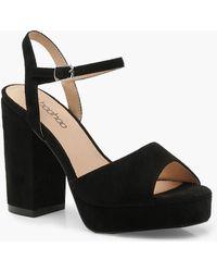 Boohoo - Peeptoe Platform Heels - Lyst