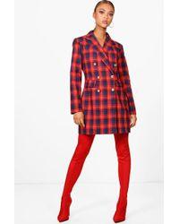 Boohoo - Daniella Check Blazer Dress - Lyst