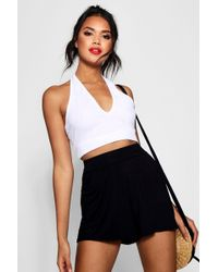 Boohoo - Plain Flippy Culotte Shorts - Lyst