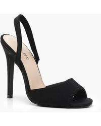 Boohoo - Peeptoe Sling Back Sandals - Lyst